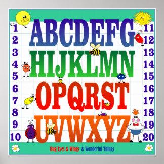Poster ABC y 123's de los ojos y de las alas del i