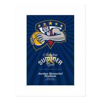 Poster abierto aficionado de la liga de baloncesto postales