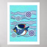 Poster aborigen 2 de los pescados