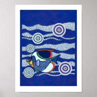 Poster aborigen 3 de los pescados