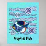 Poster aborigen 5 de los pescados