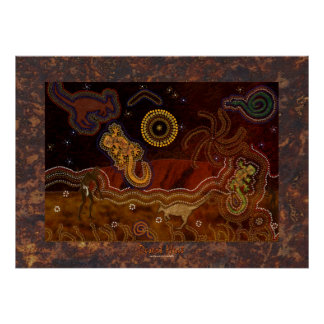 Poster aborigen australiano del calor del desierto