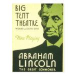 Poster Abraham Lincoln Illinois 1936 de WPA Postales