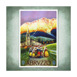 Poster Abruzos Italia del vintage del viaje Lienzo Envuelto Para Galerías
