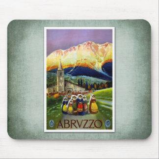 Poster Abruzos Italia del vintage del viaje Tapetes De Raton