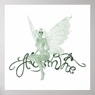 Poster - Absinthe Art Signature Green Fairy