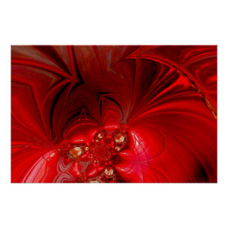 Poster Abstract Art Red Stage 3