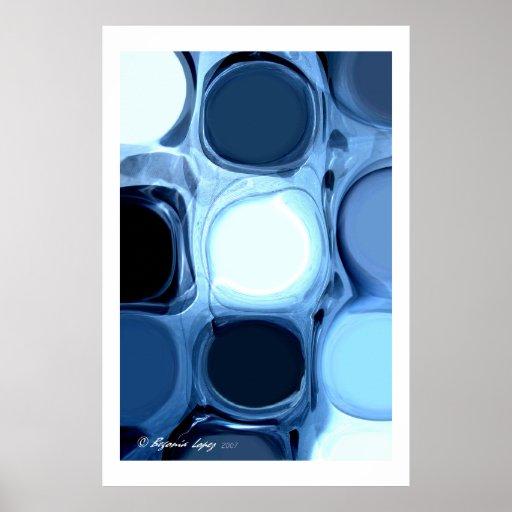 Poster abstracto azul