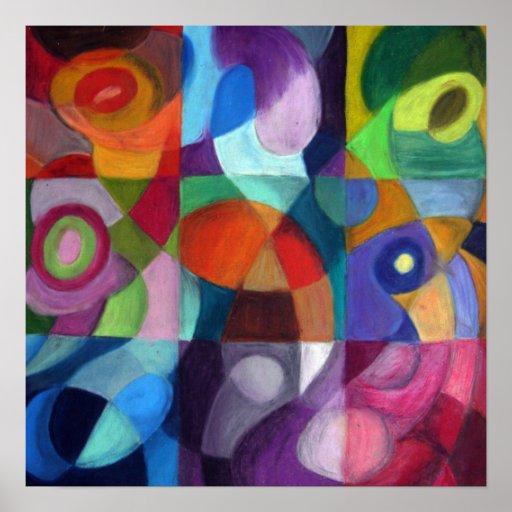 Poster abstracto colorido del diseño