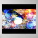 Poster abstracto de la galaxia