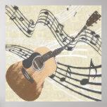 Poster abstracto de la guitarra