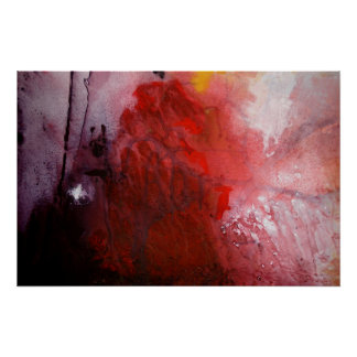 Poster abstracto de la impresión de la pintura del