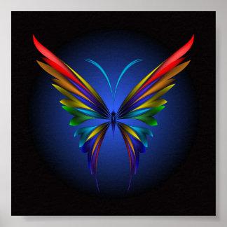Poster abstracto de la mariposa