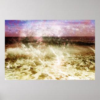 Poster abstracto de la onda