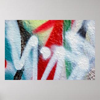 poster abstracto de la pintada