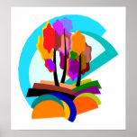 Poster abstracto de los árboles