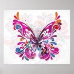 Poster abstracto decorativo de la mariposa