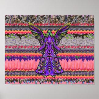 Poster abstracto del arte del ángel