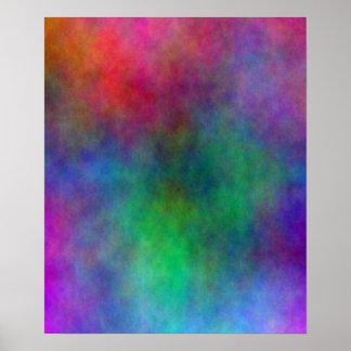Poster abstracto del chapoteo del color
