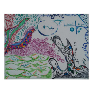 Poster abstracto del Doodle