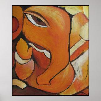 Poster abstracto del elefante