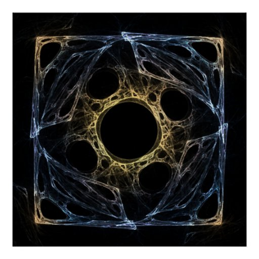 Poster abstracto del fractal del iris