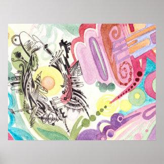 Poster abstracto del Watercolour # 1