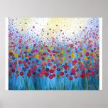 Poster abstracto floral romántico infinito