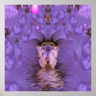 Poster abstracto magnífico de la mariposa