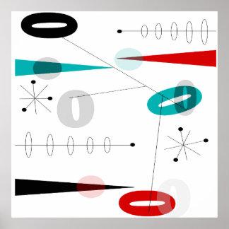Poster abstracto moderno #40 de los mediados de