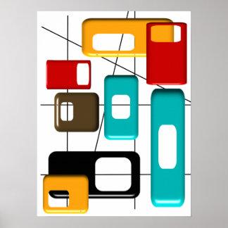 Poster abstracto moderno #41 de los mediados de