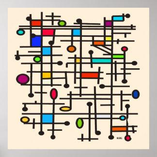 Poster abstracto moderno #49 de los mediados de