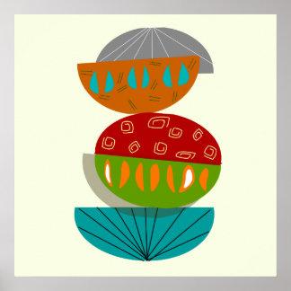 Poster abstracto moderno #54 de los mediados de