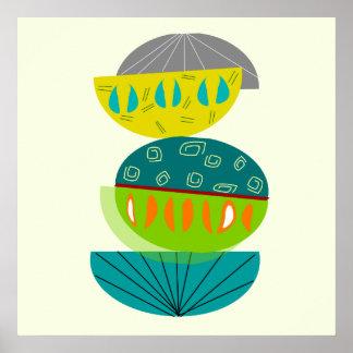 Poster abstracto moderno #55 de los mediados de