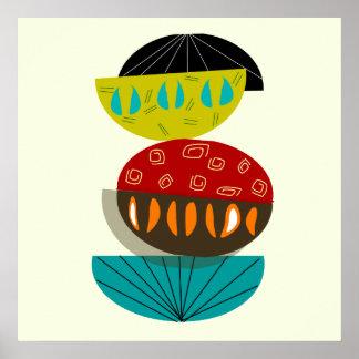Poster abstracto moderno #56 de los mediados de