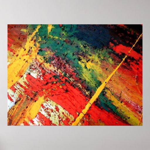 Poster abstracto moderno del arte de la pintura