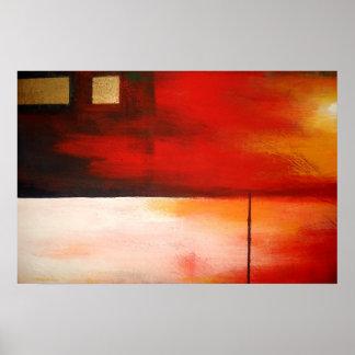 Poster abstracto original del arte de la pintura m