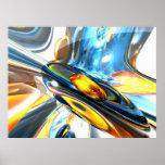 Poster abstracto oscilante del color