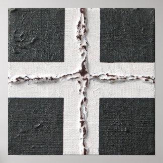 Poster abstracto puesto a tierra de la pintura