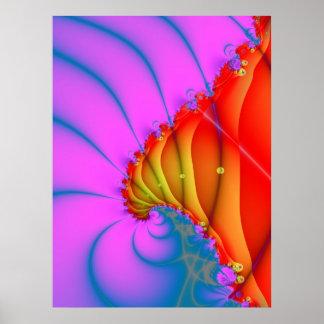 Poster abstracto rojo del mundo 3d