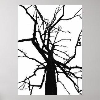 Poster abstracto superior del árbol