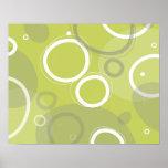 Poster abstracto verde de Martini