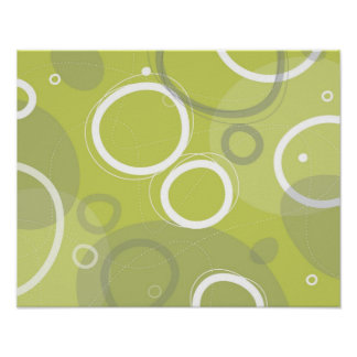 Poster abstracto verde de Martini Póster