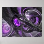 Poster abstracto violáceo