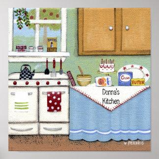 Poster acogedor personalizado de la cocina
