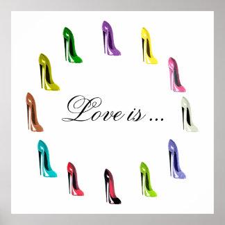 Poster adaptable chistoso del arte del zapato de S