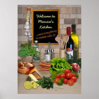 Poster adaptable de la cocina