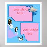poster adaptable de la foto del pingüino A PARTIR
