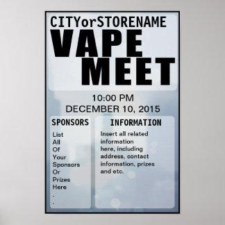 Poster adaptable de la reunión de Vape