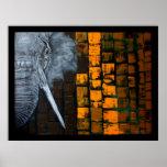 Poster adaptable del elefante